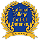 Logo Recognizing The Law Offices of Steven R. Adams's affiliation with National College of DUI Defense