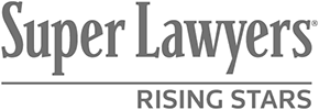 Logo Recognizing The Law Offices of Steven R. Adams's affiliation with Super Lawyers Rising Stars