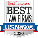 Logo Recognizing The Law Offices of Steven R. Adams's affiliation with US News Best Law Firms 2020
